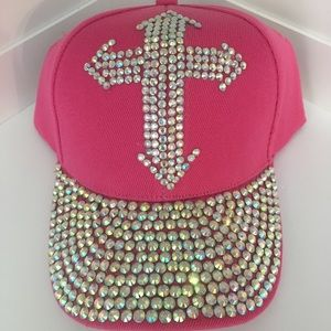Accessories - ❗️Last 1❗️Rhinestone Cross Hat